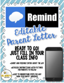 Remind (EDITABLE) Parent Letter