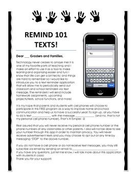 Remind 101 Parent Information Letter