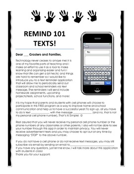 remind 101 parent information letter