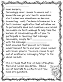 remind 101 parent letter
