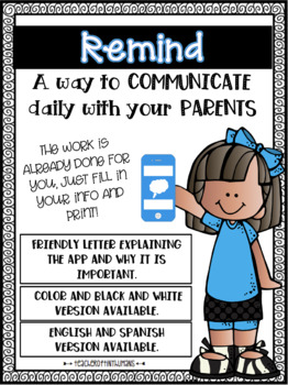 Remind 101 Parent Letter (Editable)
