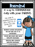 Parent Letter for Remind App (Editable)