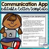Remind App Parent Letter Editable Template