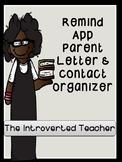 Remind App Parent Letter