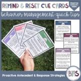 Remind & Reset Behavior Cue Cards for Parents, Teachers &