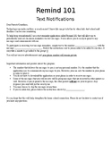 Remind101 EDITABLE Parent Letters and Sign-up Sheet