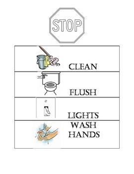 Reminder Bathroom Sign