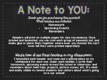 Reminder Board Pennants