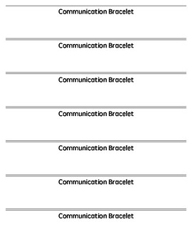 Communication (Reminder) Bracelet