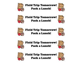 Reminder Bracelet: Field Trip Tomorrow! {FREEBIE}