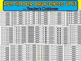 Reminder Bracelets Unit from Teacher's Clubhouse