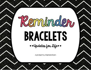 Reminder Bracelets- **Updates for Life** Low Ink