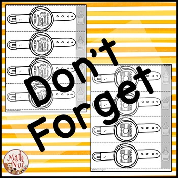 "Reminder Bracelets ""Alphabet Bracelets & Multiplication Bracelets"""
