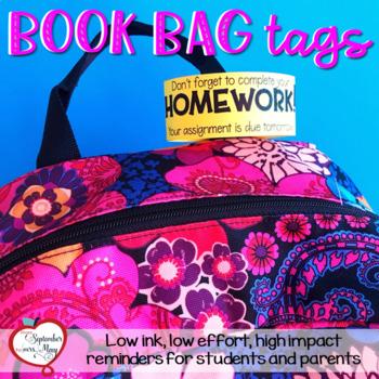 Reminder Bracelets or Reminder Book Bag Tags - Editable