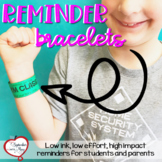 Reminder Bracelets or Reminder Book Bag Tags - Editable