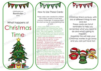 Reminder Cards - Christmas Time