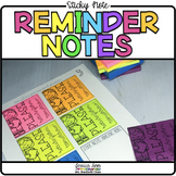 Post It / Sticky Note Reminders {Print on Cardstock or Post It Notes}