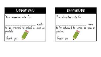 [FREEBIE] Reminder Notes Parents