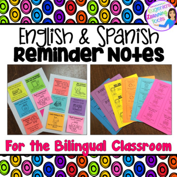 Reminder Notes in English and Spanish