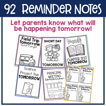 Reminder Notes to Send Home