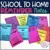 Reminder Parent Notes to Send Home (Editable)