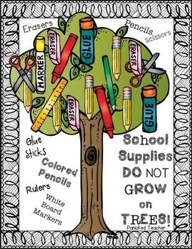 School Supplies Reminder Posters FREEBIE