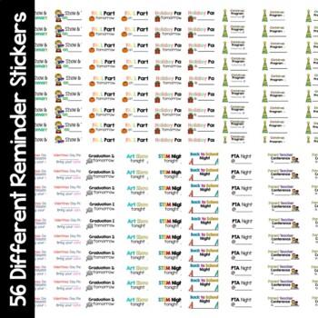 Reminder Stickers- Editable