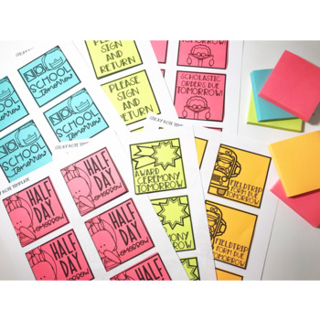 Reminder Sticky Notes