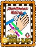 Reminder Watches (Editable in Google Slides)