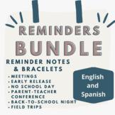 Reminders and Reminder Bracelets Bundle!
