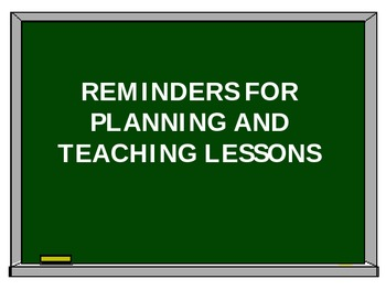 Reminders for Music Lessons
