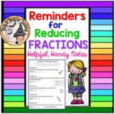 Reminders for Reducing Fractions Simplify Reduce Simplifying Fractions