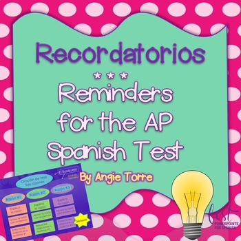 Recordatorios: Reminders for the AP Spanish Test PowerPoint