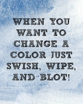 Reminders- swapping paint colors!