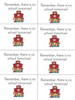 Reminders to parents.  recordatorios a los padres