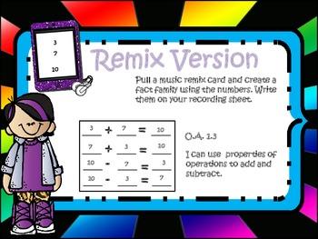 Remix Version (Addition & Subtraction Fact Families)