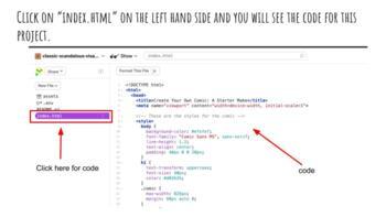 Remixing an HTML Comic