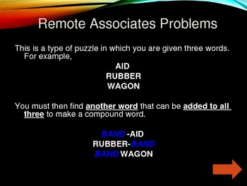 Remote Associate Word Puzzles
