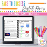 Remote Distance Learning Reading and Math Review Bundle
