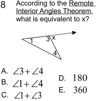 Remote Interior Angles Theorem Intro & 2 Assignments for PDF
