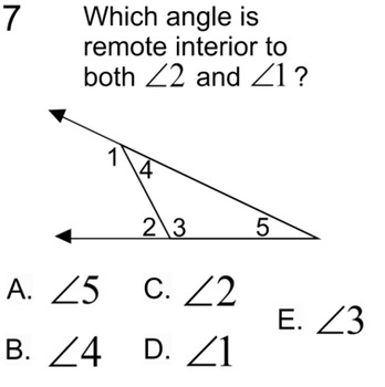 Remote Interior Angles Theorem Intro & 2 Assignments for Power Point