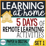 Distance Learning Activities Packet for Remote Learning -