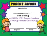 Remote Learning Parent Award