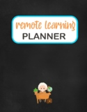Remote Learning Planner 122 pages