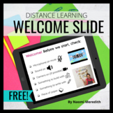 Remote Learning Resources | Welcome Slide for Virtual Meet