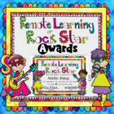 Remote Learning Rock Star Awards Certificates
