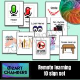 Remote Distance Learning Signs/Symbols I- Set of 10