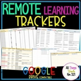 Remote Learning TRACKERS + Student & Parent Communication Log