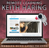 Visual Art Distance Learning Online - Keith Haring - One W