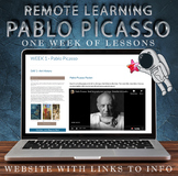 Visual Art Remote Learning Website - Pablo Picasso - One W